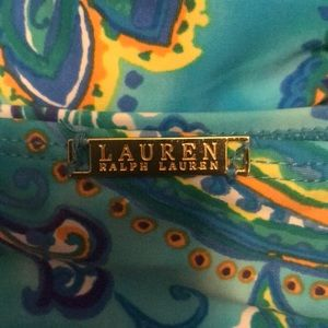 Ralph Lauren Swim - Ralph Lauren Blue Patterned Swim Suit